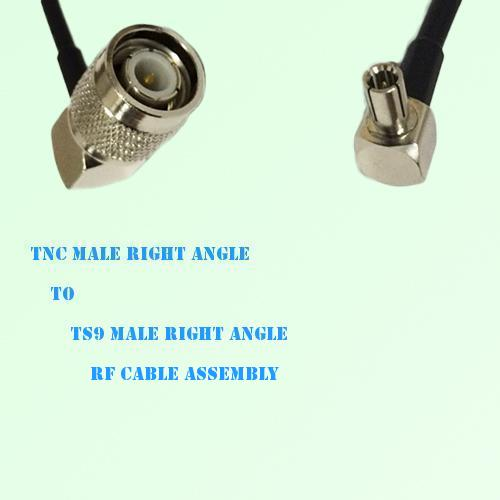 TNC Male Right Angle to TS9 Male Right Angle RF Cable Assembly