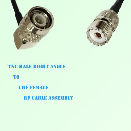 TNC Male Right Angle to UHF Female RF Cable Assembly