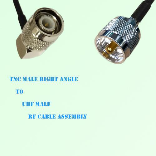 TNC Male Right Angle to UHF Male RF Cable Assembly