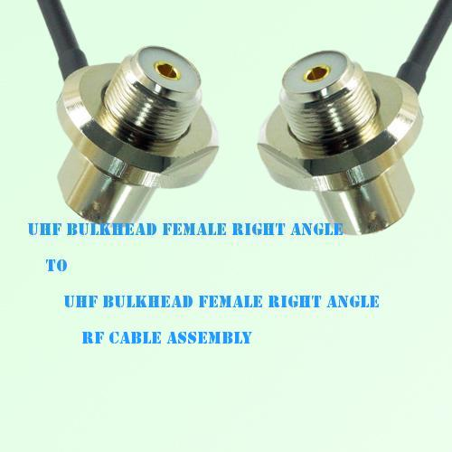 UHF Bulkhead Female R/A to UHF Bulkhead Female R/A RF Cable Assembly