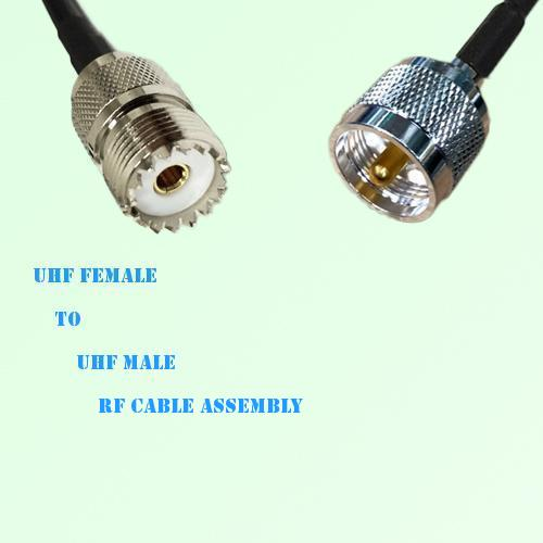 UHF Female to UHF Male RF Cable Assembly