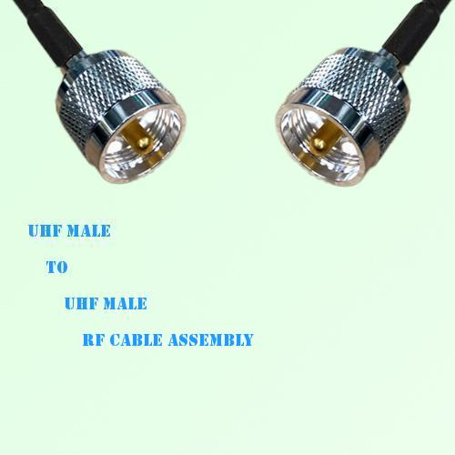 UHF Male to UHF Male RF Cable Assembly