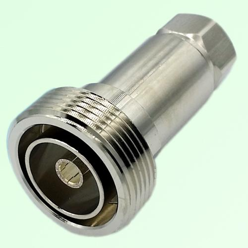 """7/16 DIN Female Clamp Connector 1/2"""" Corrugated Superflexible Cable"""