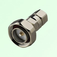 "7/16 DIN Male Clamp Connector 1/2"" Corrugated Ring Copper Tube Cable"