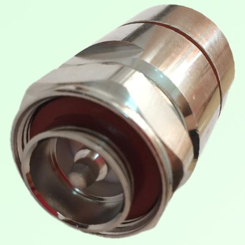 "7/16 DIN Male Clamp Connector 7/8"" Corrugated Ring Copper Tube Cable"