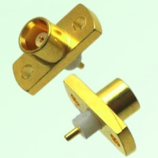 MCX Female 2 Hole Panel Mount Solder Post Connector