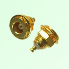 MCX Bulkhead Female Front Mount Solder Post Connector
