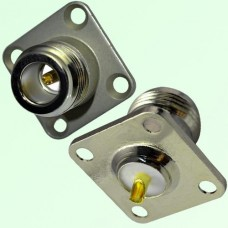N Female 4 Hole Panel Mount Solder Cup Connector
