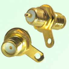 SMA Bulkhead Female Front Mount Solder Cup Connector