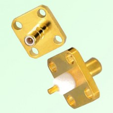 SMB Male 4 Hole Panel Mount Solder Post Connector