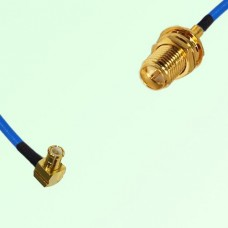 Semi-Flexible Jumper MCX Male Right Angle to RP SMA Bulkhead Female