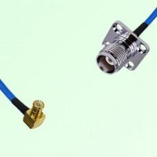 Semi-Flexible Jumper MCX Male Right Angle to TNC 4 Hole Panel Mount Female