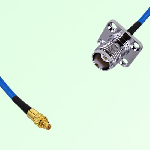 Semi-Flexible Jumper MMCX Male to TNC 4 Hole Panel Mount Female