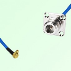 Semi-Flexible Jumper MMCX Male Right Angle to N 4 Hole Panel Mount Female