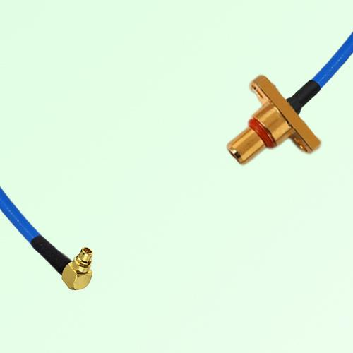 Semi-Flexible Jumper MMCX Male Right Angle to SBMA 2 Hole Panel Mount Male