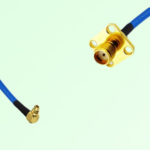 Semi-Flexible Jumper MMCX Male Right Angle to SMA 4 Hole Panel Mount Female