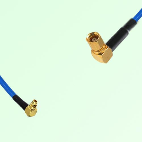 Semi-Flexible Jumper MMCX Male Right Angle to SMC Female Right Angle