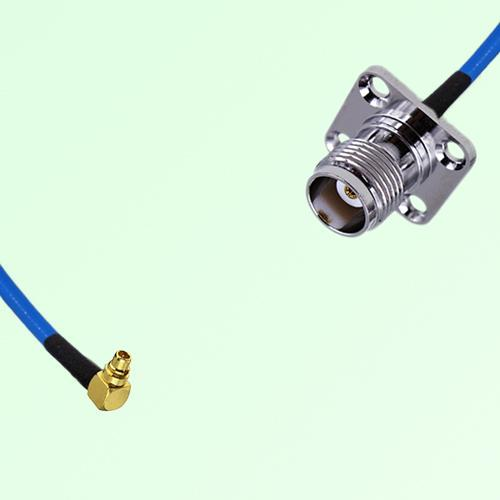 Semi-Flexible Jumper MMCX Male Right Angle to TNC 4 Hole Panel Mount Female