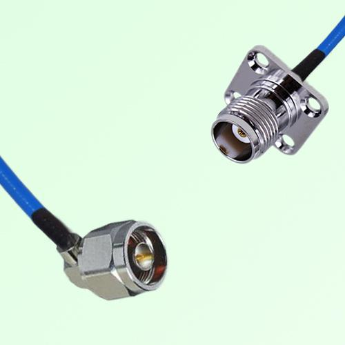 Semi-Flexible Jumper N Male Right Angle to TNC 4 Hole Panel Mount Female