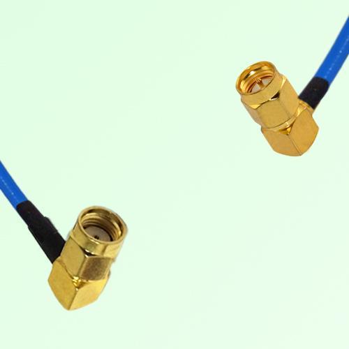 Semi-Flexible Jumper RP SMA Male Right Angle to SMA Male Right Angle
