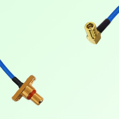 Semi-Flexible Jumper SBMA 2 Hole Panel Mount Male to SMB Female Right Angle