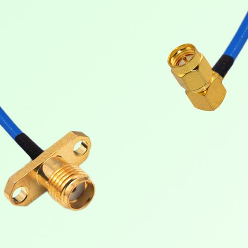 Semi-Flexible Jumper SMA 2 Hole Panel Mount Female to SMA Male Right Angle