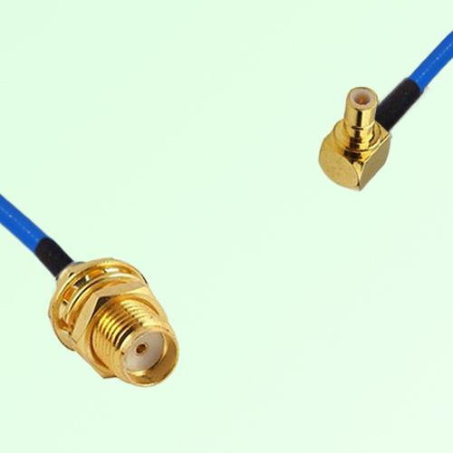 Semi-Flexible Jumper SMA Bulkhead Female to SMB Male Right Angle