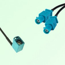 Splitter Y Type Cable FAKRA SMB Z Female R/A to FAKRA SMB Z Male