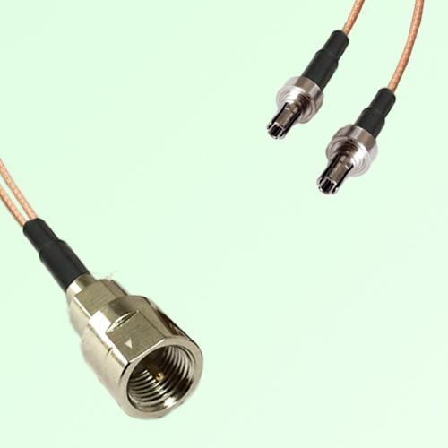 Splitter Y Type Cable FME Male to CRC9 Male