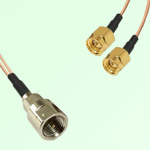 Splitter Y Type Cable FME Male to SMA Male