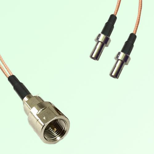 Splitter Y Type Cable FME Male to TS9 Male