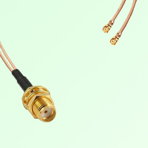 Splitter Y Type Cable SMA Bulkhead Female to IPEX Default