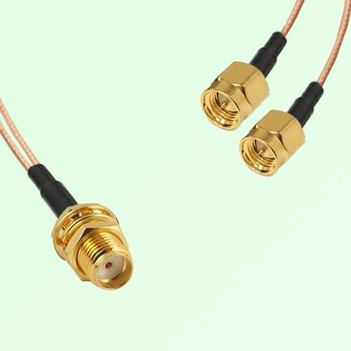 Splitter Y Type Cable SMA Bulkhead Female to SMA Male