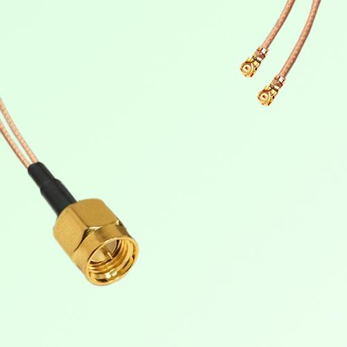 Splitter Y Type Cable SMA Male to IPEX Default