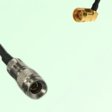 75ohm 1.0/2.3 DIN Male to SMA Male Right Angle Coax Cable Assembly