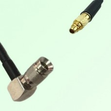 75ohm 1.0/2.3 DIN Male Right Angle to MMCX Male Coax Cable Assembly