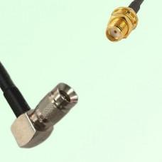 75ohm 1.0/2.3 DIN Male R/A to SMA Bulkhead Female Coax Cable Assembly