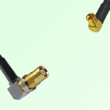 75ohm 1.6/5.6 DIN Female R/A to MMCX Female R/A Coax Cable Assembly