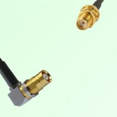 75ohm 1.6/5.6 DIN Female R/A to SMA Bulkhead Female Cable Assembly