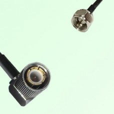 75ohm 1.6/5.6 DIN Male Right Angle to F Male Coax Cable Assembly