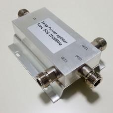 3 Way N Female Jack RF Power Splitter/Divider 800-2500MHz