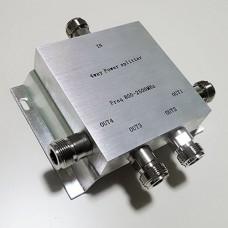 4 Way N Female Jack RF Power Splitter/Divider 800-2500MHz