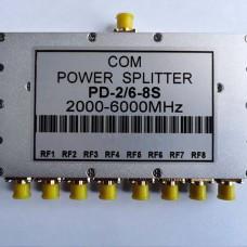 8 Way SMA Female Jack RF Power Splitter/Divider 2000-6000MHz