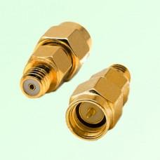 RF Adapter 10-32 M5 Female Jack to SMA Male Plug