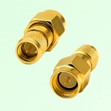 RF Adapter 10-32 M5 Male Plug to SMA Male Plug