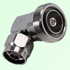 Right Angle 7/16 DIN Female Jack to N Male Plug Adapter