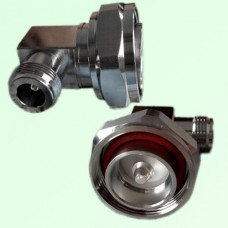 Right Angle 7/16 DIN Male Plug to N Female Jack Adapter