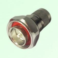 RF Adapter 7/16 DIN Male Plug to N Male Plug