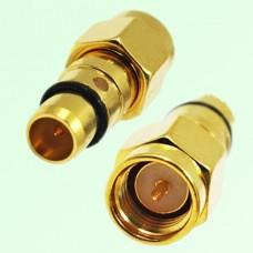 RF Adapter BMA Male Plug to SMA Male Plug