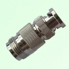 RF Adapter BNC Male Plug to N Female Jack